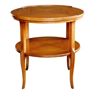 1960's Circular Cherrywood Side/End Table by Widdicomb For Sale