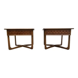 Mid-Century Lane Perception Square End Tables - a Pair For Sale