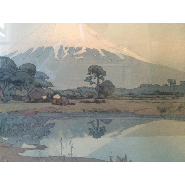 Blue Hiroshi Yoshida Woodblock Print With Jizuri Seal For Sale - Image 8 of 8