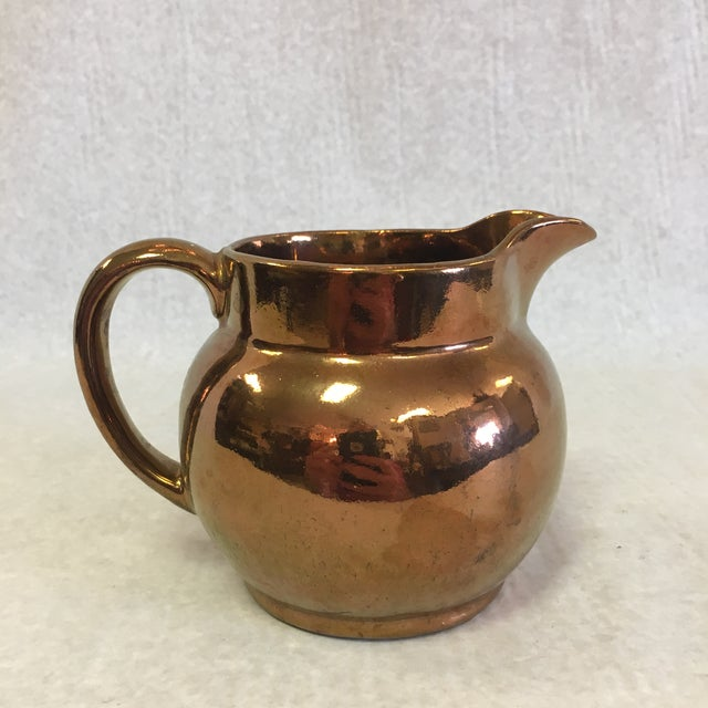 Early 19th Century Antique Copper Lustreware Jug For Sale - Image 5 of 7