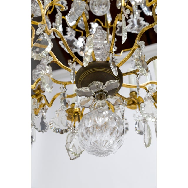 18-Arm Gilded Bronze Birdcage Chandelier For Sale - Image 12 of 13
