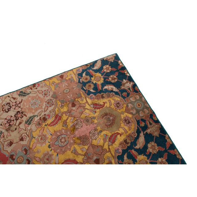 Asian Agra Carpet in Wool & Silk For Sale - Image 3 of 11