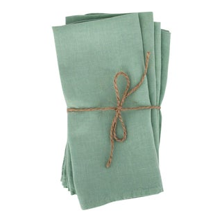 Mint Linen Napkins - Set of 4 For Sale