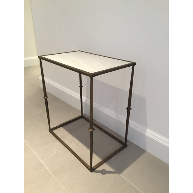 HD Buttercup Marble Top Side Table - Image 2 of 6