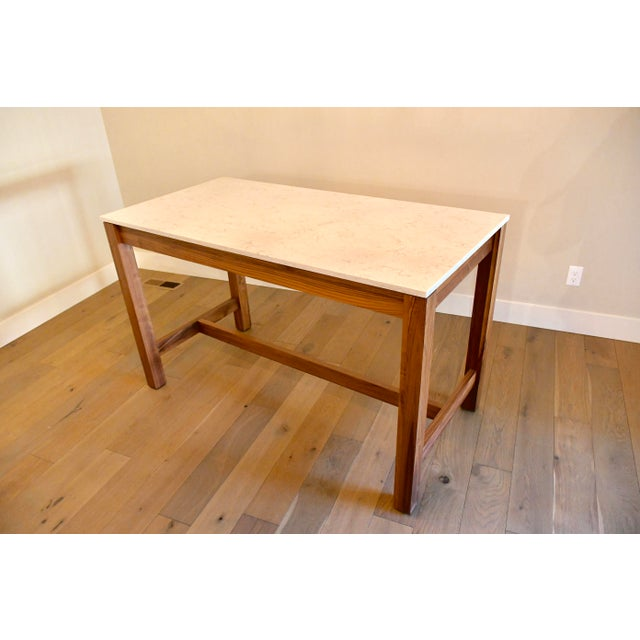 Walnut Room & Board Linden Dining Counter Bar Table For Sale - Image 7 of 9