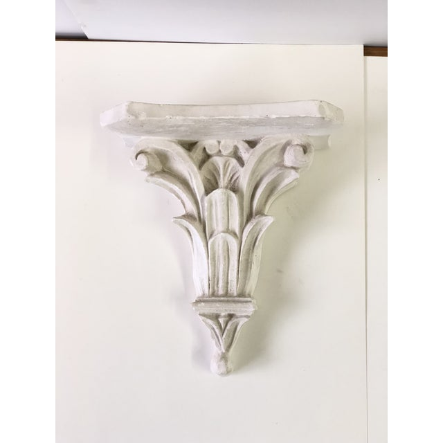 Neoclassical White Acanthus Carved Plaster Wall Bracket For Sale - Image 12 of 12