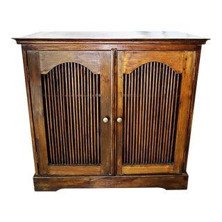Vintage Bali Teak Commode Cabinet For Sale