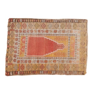 "Vintage Turkish Prayer Rug - 3'8"" x 5'2"""