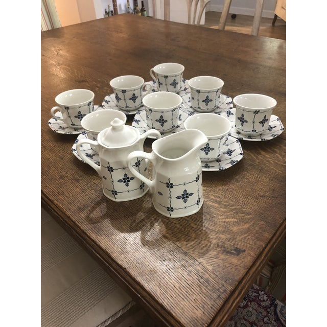"""Ceramic Royal Staffordshire """"Homespun"""" Ironstone by Meakin - 18 Pieces For Sale - Image 7 of 8"""