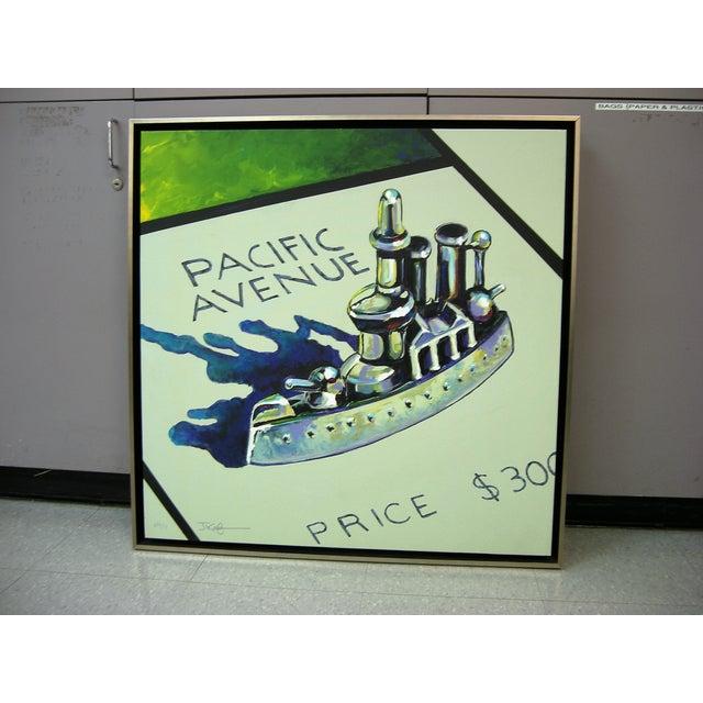 Monopoly Battleship Original Painting - Image 2 of 4