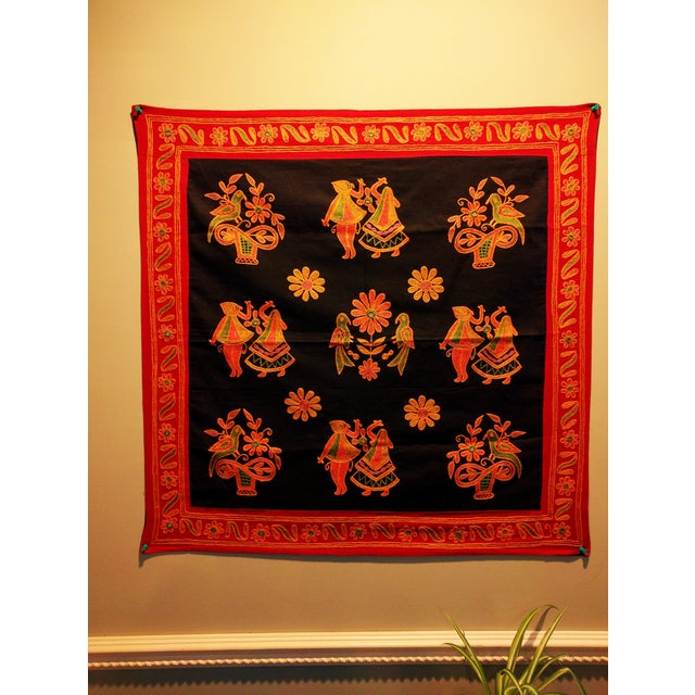 Ethnic Indian Embroidered Tapestry - Image 2 of 6