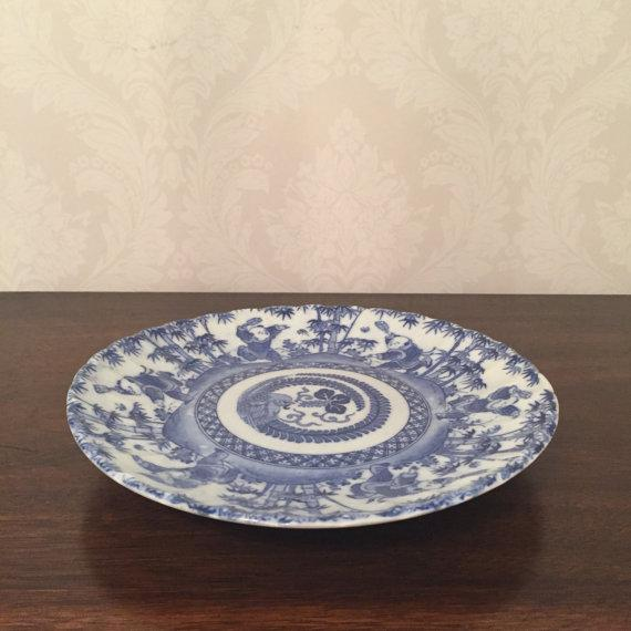 Antique Chinese Blue & White Export Porcelain Side Plate - Image 5 of 6