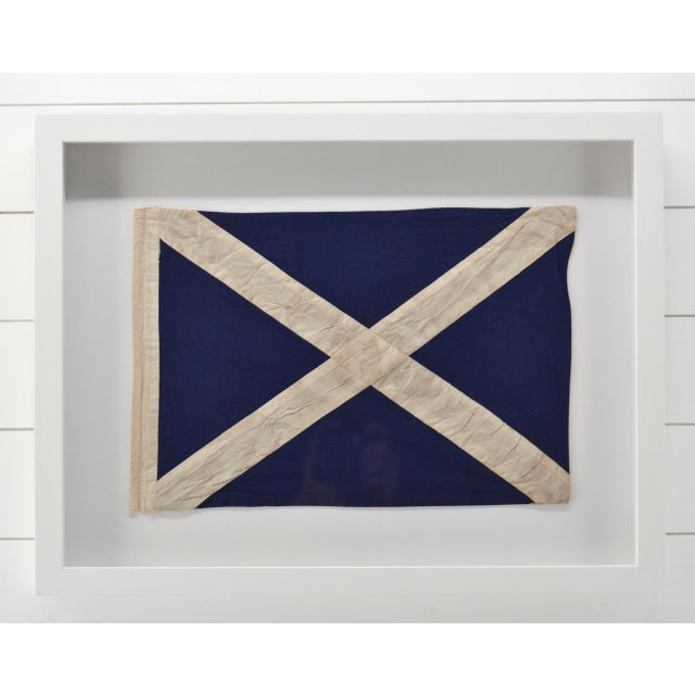 """2020s Real Framed Cotton Signal Flag """"M"""" For Sale - Image 5 of 5"""