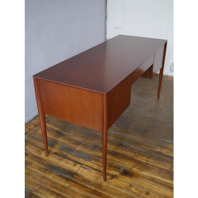 T. H. Robsjohn-Gibbings Walnut Desk For Sale In Boston - Image 6 of 8