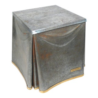John Dickinson Galvanized Steel Occasional Table For Sale