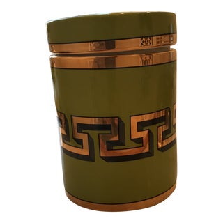 Jonathan Adler Greek Key Mykonos Canister For Sale