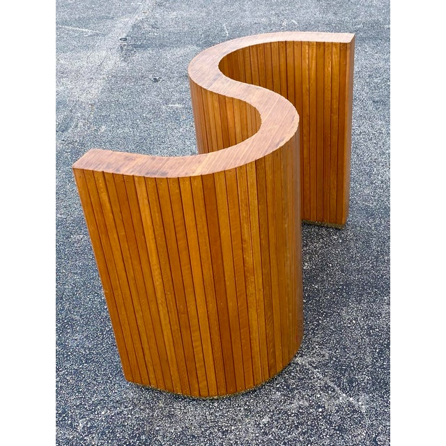 Custom Mid-Century Curved Table Base For Sale - Image 9 of 9