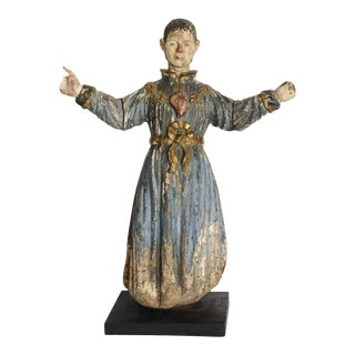 Italian Baroque Painted and Gilded Statue of St Peter, Early 18th Century For Sale
