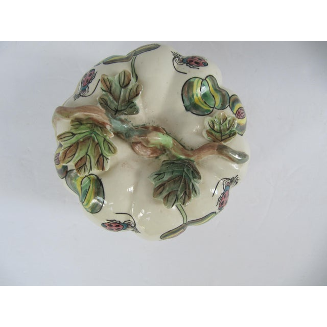 Vintage Chinoiserie Porcelain Pumpkin From Charles Willis Atlanta For Sale - Image 4 of 9