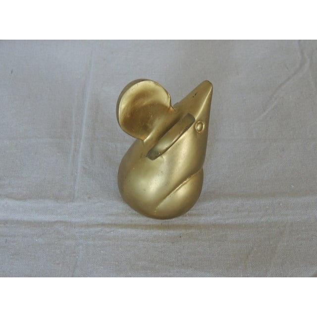 Vintage Brass Mouse Paperweight - Image 3 of 4