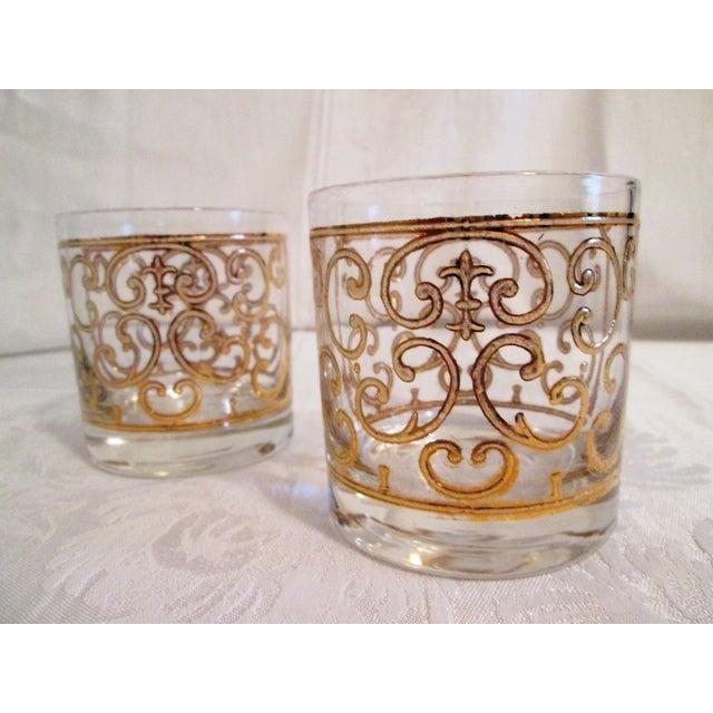 Green Glass Liquor Decanter Glasses - Set of 3 - Image 3 of 7