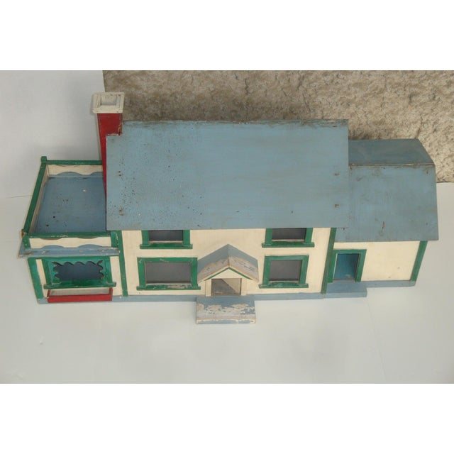 1920s Handmade American Folk Art House Maquette For Sale - Image 4 of 9