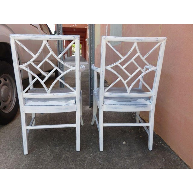 1970s Vintage Chinese Chippendale Armchairs - a Pair For Sale In Miami - Image 6 of 8