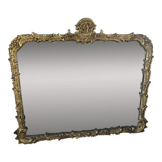 Early 1900s Ornate Mantel Wall Mirror For Sale