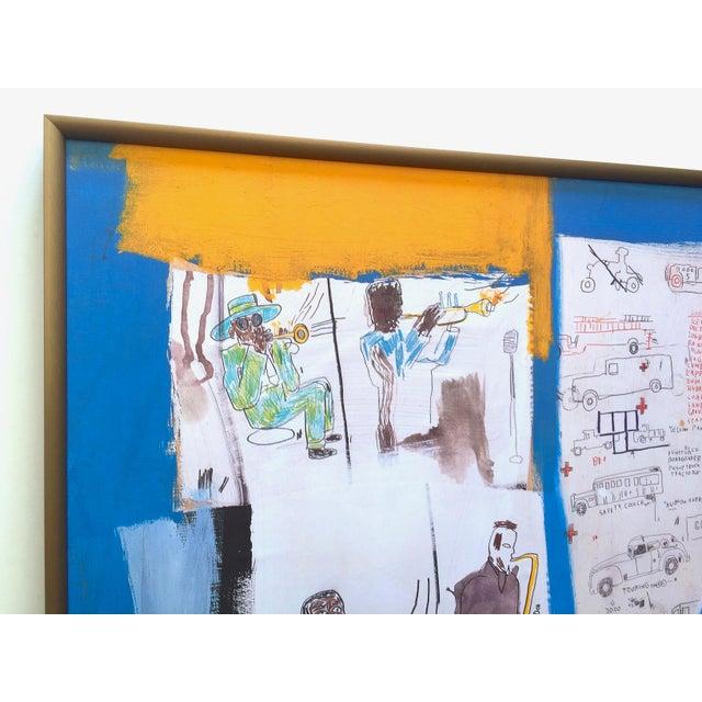 "Jean Michel Basquiat Jean Michel Basquiat Rare Vintage 1997 Framed Lithograph Fine Art Print "" Worthy Constituents "" 1986 For Sale - Image 4 of 13"
