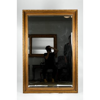 Vintage Gilded Wood Framed Hanging Wall Mirror Preview