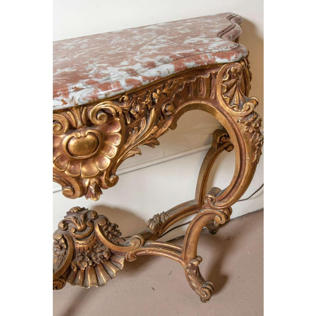 Marble Top Louis XV Style Console Table by Jansen - Image 6 of 8