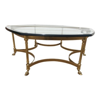 La Barge Brass & Glass Coffee Table For Sale