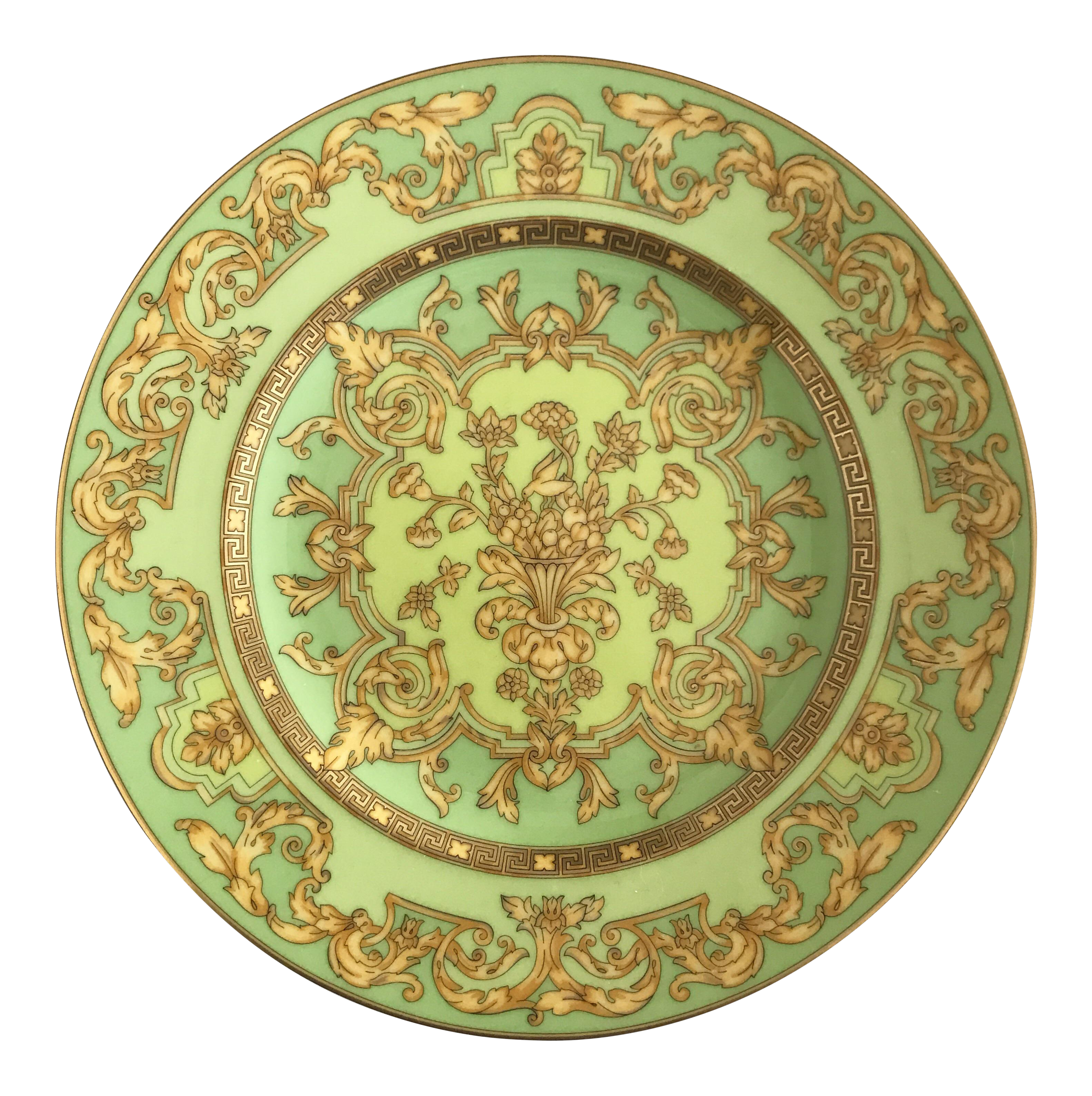 Versace by Rosenthal \ Green Floralia\  Small Plates- Set of 6  sc 1 st  Chairish & Versace by Rosenthal \