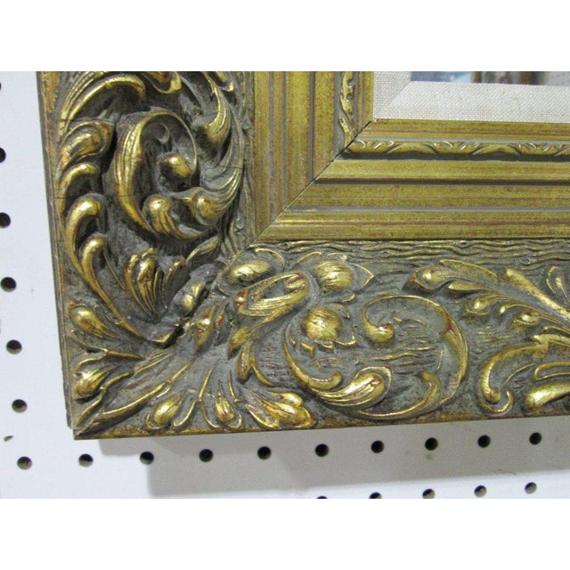 Traditional Antique Style Gold Wall Mirror For Sale - Image 3 of 4