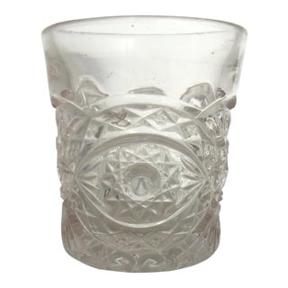 Antique Pressed Glass Toothpick Holder For Sale