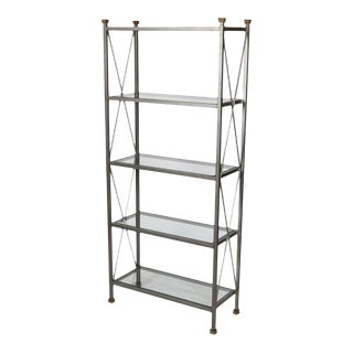 Vintage Neoclassical Steel Etagere For Sale