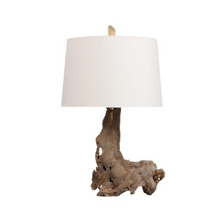 Tree Free Form Wood Table Lamp For Sale