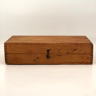 Blonde Wood Latched Box With Jointed Corners Preview