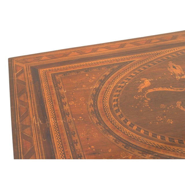 Beautiful pair of Northern Italian (late 18th century) neoclassical walnut and marquetry inlaid gilt bronze mounted...