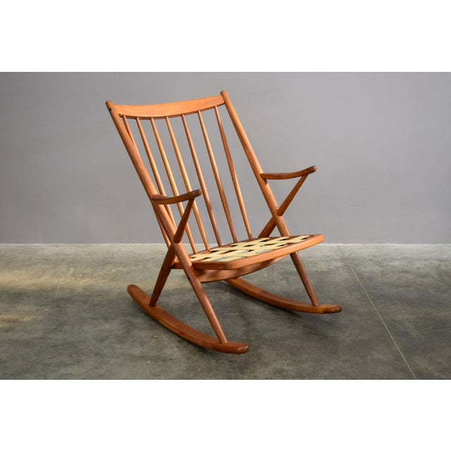 Teak Beautifully Restored Teak Danish Frank Reenskaug Rocker For Sale - Image 7 of 9