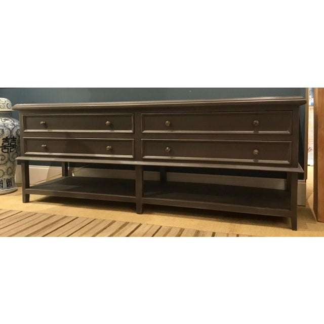 Modern Gray Wood Four Drawer Console Table For Sale In Atlanta - Image 6 of 6