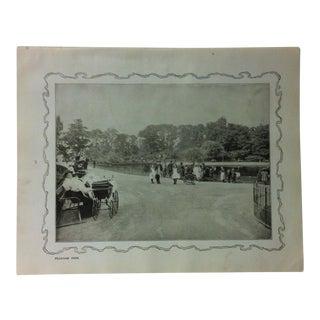 """1906 """"Peckham Park"""" Famous View of London Print For Sale"""