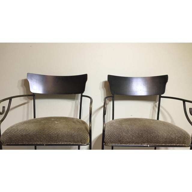 Wrought Iron Bar Stools - A Pair - Image 3 of 11