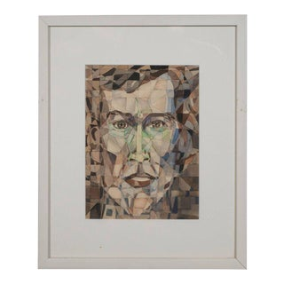 Modernist Watercolor, Ink and Pencil Painting by Marshall Watkins For Sale