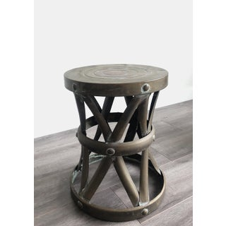 1960s Boho Chic Brass Drum Table Preview