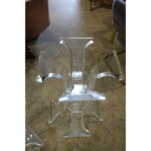 Vintage Lucite Dining Table Bases - A Pair For Sale - Image 4 of 5