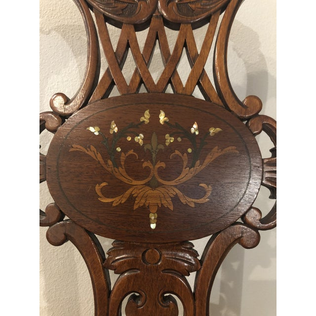 Late 19th Century Antique Victorian Rosewood Chair For Sale - Image 4 of 10