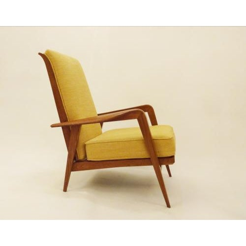 1930s Etienne Henri Martin Pair of Modernist Reclining Lounge Chairs in Oak, edited by Steiner For Sale - Image 5 of 9