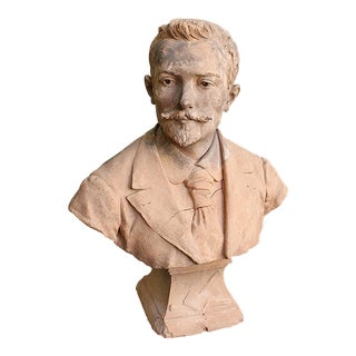 19th Century French Terra Cotta Bust For Sale