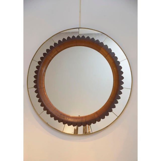 Brass Fratelli Marelli 1940 Mirror For Sale - Image 7 of 7